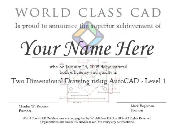 Autocad Certification 2d Level 3